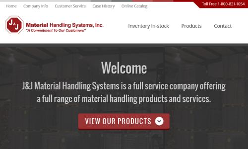 J&J Material Website Redesign