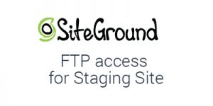 How to set up FTP access to staging site on SiteGround