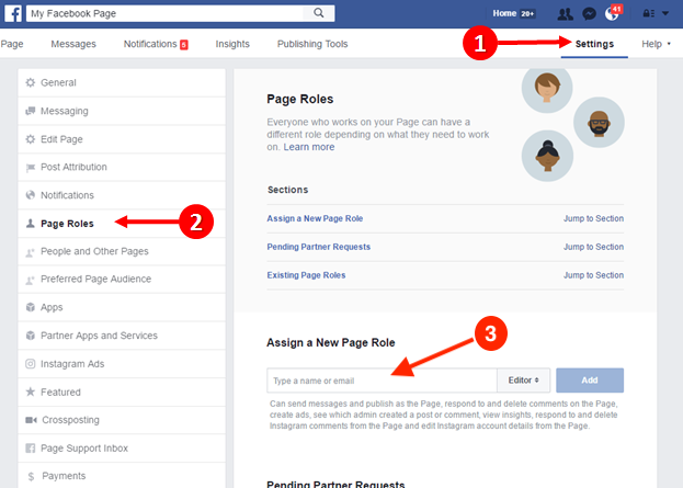How to get admin access to Facebook page - Sarah Moyer