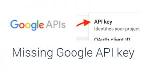 "Missing Google API Key for ""Create Credentials"""