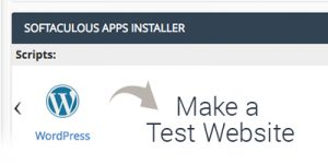 How to set up a test website