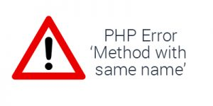 "Fix  PHP error ""Methods with same name as their class will not be constructors"""