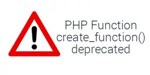 Fix create_function() deprecated PHP function in WordPress