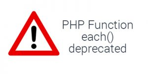 Fix each() deprecated PHP function in WordPress