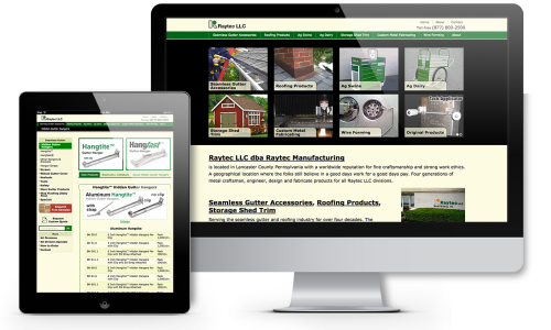 Raytec Manufacturing Website