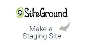 How to create a staging site on SiteGround
