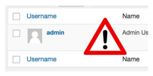 How to remove 'admin' username from WordPress